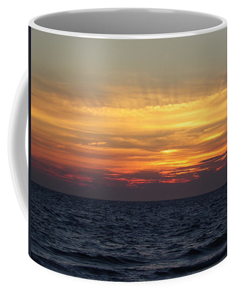 Seascape Coffee Mug featuring the photograph Cape Cod Sunset by Charleen Treasures