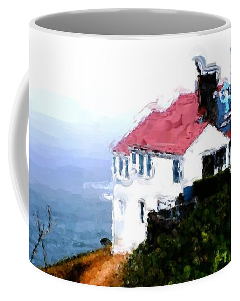 Cape Foulweather Coffee Mug featuring the painting Cape Foulweather by Methune Hively