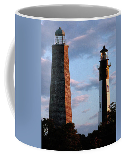 Lighthouses Coffee Mug featuring the photograph Cape Henry Lighthouses In Virginia by Skip Willits