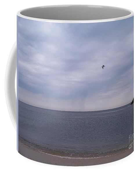 Cape May Coffee Mug featuring the painting Cape May On A Cloudy Day by Eric Schiabor
