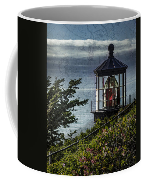 Cape Meares Coffee Mug featuring the photograph Cape Meares Lighthouse by John Trax