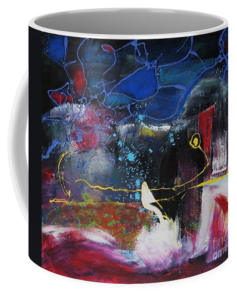 Abstract Coffee Mug featuring the painting Cape Spear by Seon-Jeong Kim