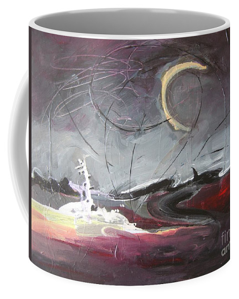 Abstract Paintings Coffee Mug featuring the painting Cape St. Mary by Seon-Jeong Kim