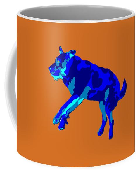 Dog Coffee Mug featuring the digital art Caper by John Berndt