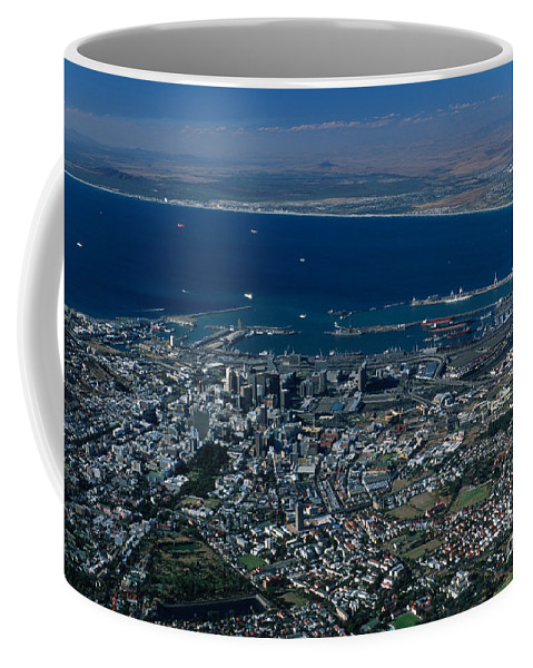Capetown Coffee Mug featuring the photograph Capetown South Africa Aerial by Sandra Bronstein