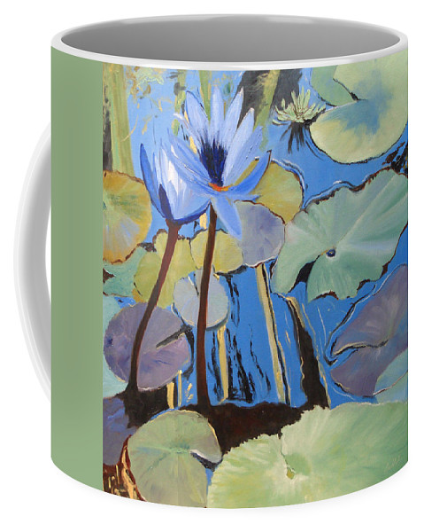 Lillies Coffee Mug featuring the painting Capistrano Lillies by Barbara Andolsek