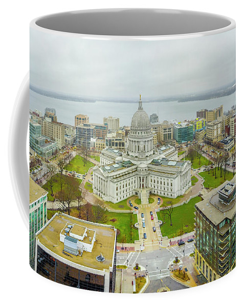 Madison Coffee Mug featuring the photograph Capital Panoramic by Randy Kostichka