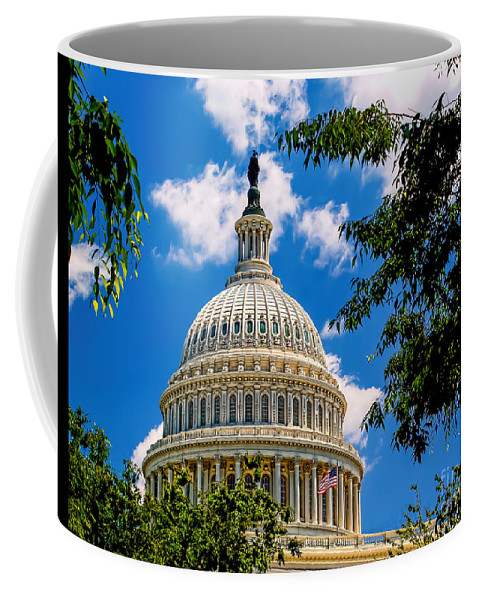 Capitol Coffee Mug featuring the photograph Capitol Of The United States by Nick Zelinsky