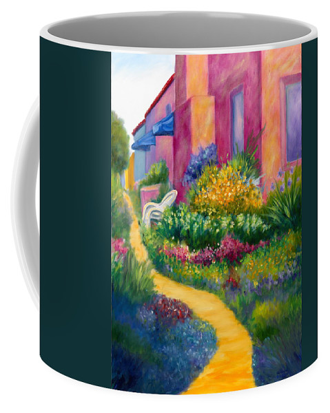 Landscape Coffee Mug featuring the painting Capitola Dreaming Too by Shannon Grissom