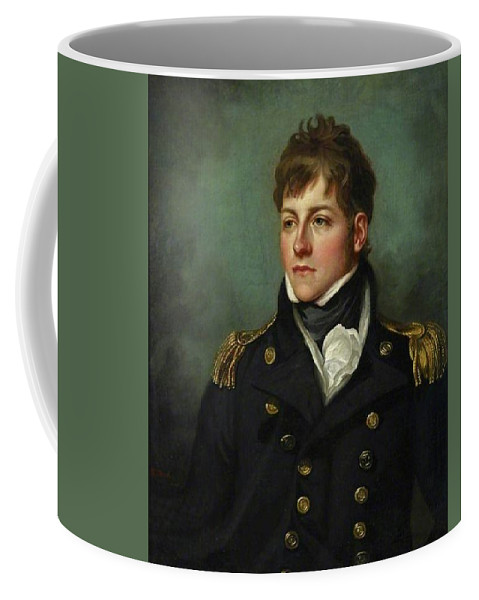 Captain George Miller Bligh (1780–1834) Coffee Mug featuring the digital art Captain George Miller Bligh by Mark Carlson