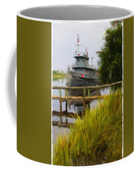 Boat Coffee Mug featuring the photograph Captains Boat by Alice Gipson