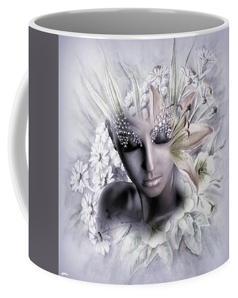 Contemporary Coffee Mug featuring the mixed media Captivating Fragrance 02 by G Berry