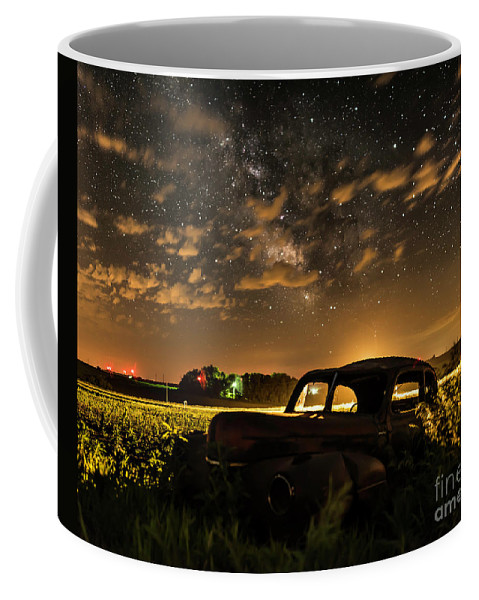 Milky Way Coffee Mug featuring the photograph Car And The Milky Way by Willard Sharp