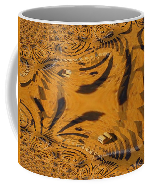 Car Coffee Mug featuring the photograph Car Inthe Kaleidoscope by Tim Allen