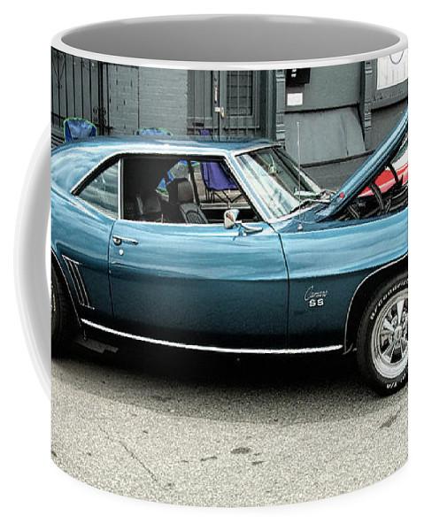 Cars Coffee Mug featuring the digital art Car Show 13 by Robert Walker