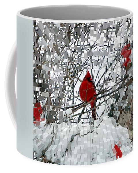 Birds Coffee Mug featuring the photograph Cardinal by Lisa Kane