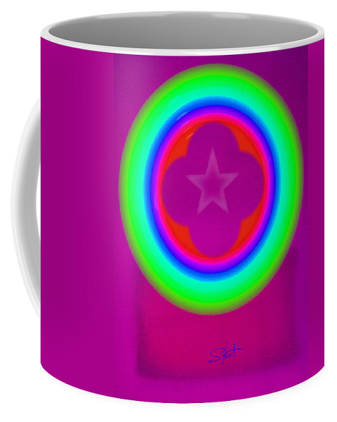 Abstract Coffee Mug featuring the painting Cardinal See by Charles Stuart