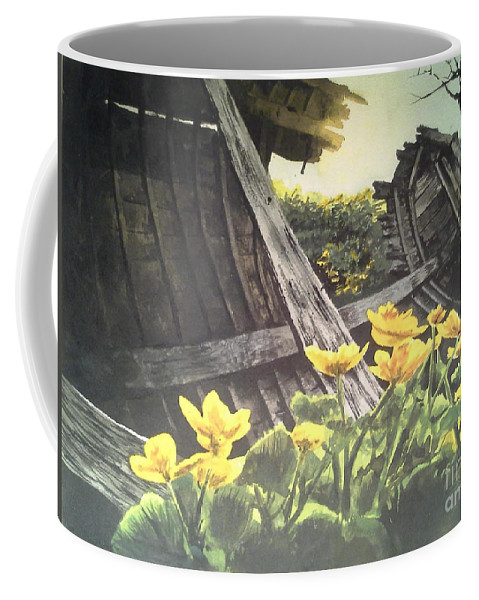 Watercolor Coffee Mug featuring the painting Careened by William Kelsey