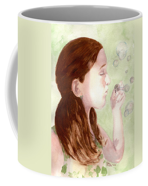 Face Coffee Mug featuring the painting Carefree by Andrew Gillette