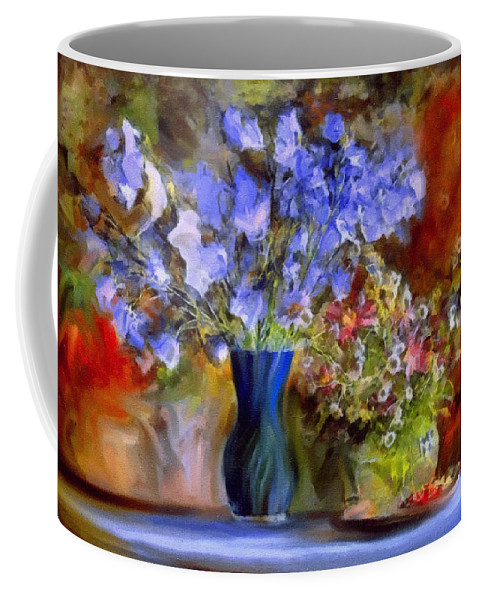 Still Life Coffee Mug featuring the painting Caress Of Spring - Impressionism by Georgiana Romanovna