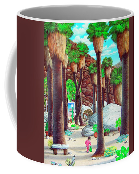 Canyon Coffee Mug featuring the painting Caretaker by Snake Jagger