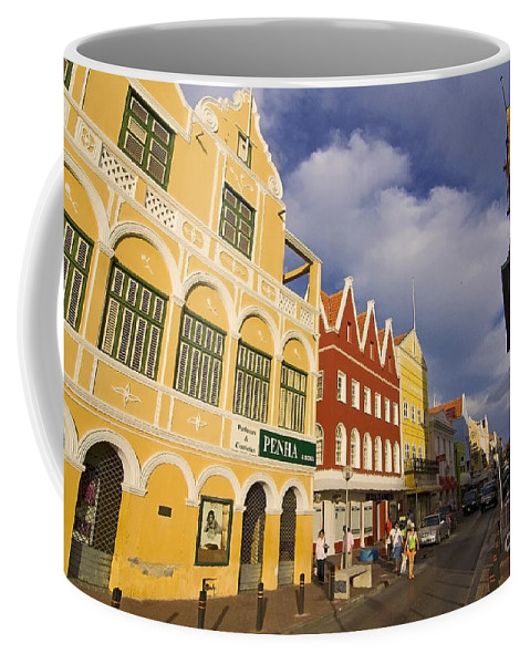 Curacao Coffee Mug featuring the photograph Caribbean Shopping District by Sven Brogren