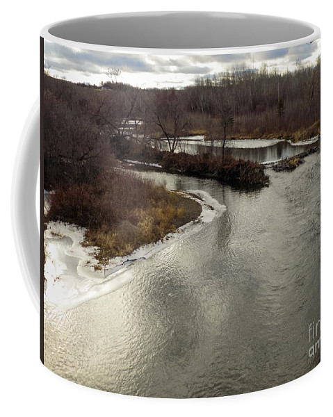 Caribou Stream Coffee Mug featuring the photograph Caribou Stream Looking East by William Tasker