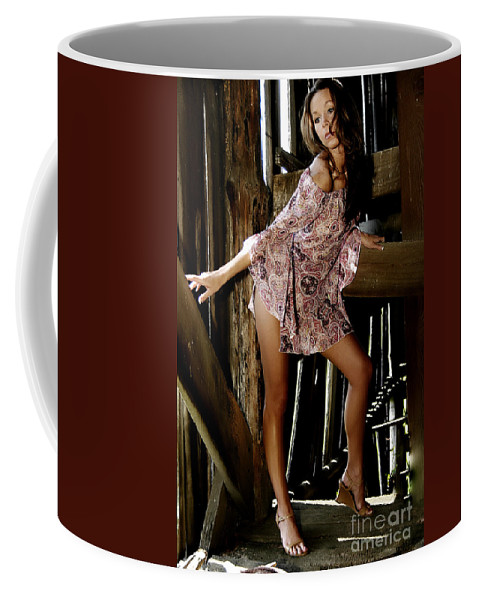 Clay Coffee Mug featuring the photograph Carla's In The Barn Again by Clayton Bruster