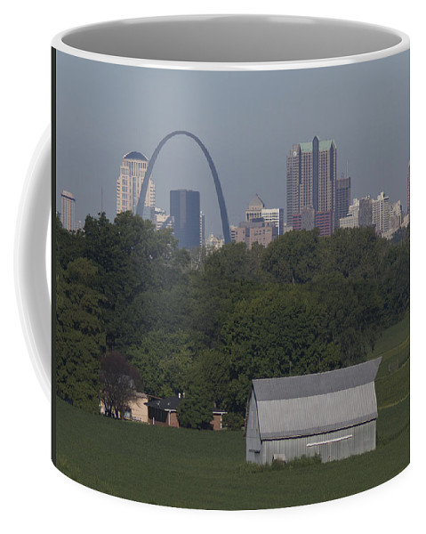 Arch Coffee Mug featuring the painting Carl's Barn by Garry McMichael