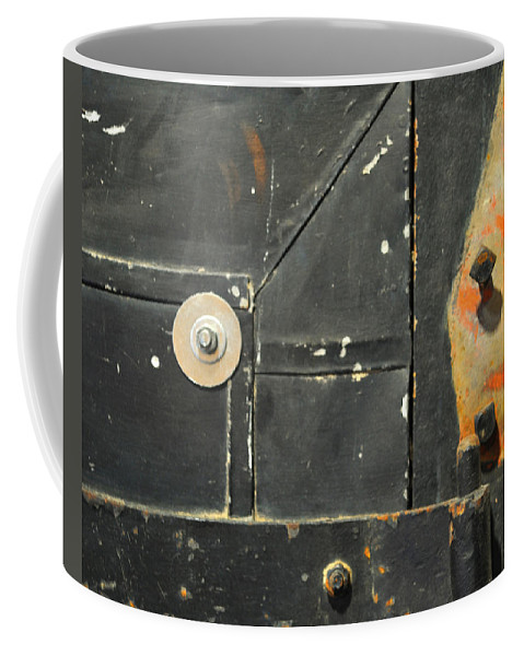 Firedoor Coffee Mug featuring the photograph Carlton 10 - Firedoor Detail by Tim Nyberg
