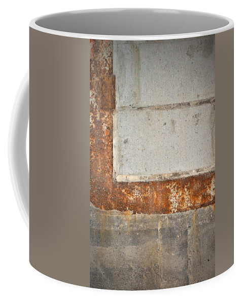 Architecture Coffee Mug featuring the photograph Carlton 14 - Abstract Concrete Wall by Tim Nyberg