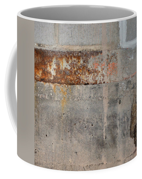 Concrete Coffee Mug featuring the photograph Carlton 16 Concrete Mortar And Rust by Tim Nyberg