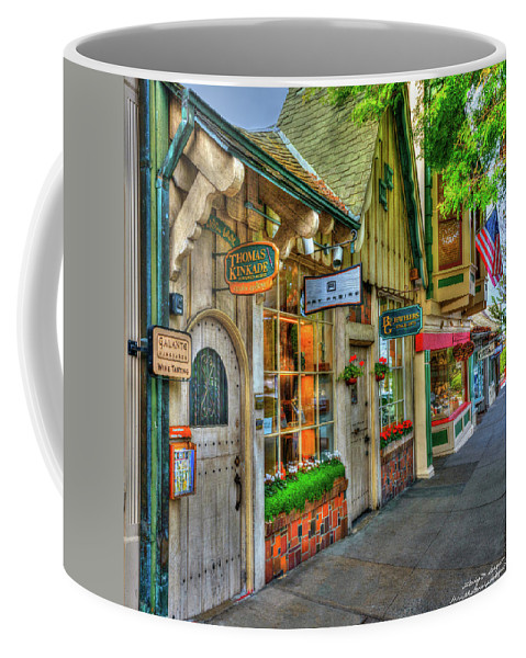 California Coffee Mug featuring the photograph Carmel, Ca. The Shops Of Ocean Ave. by Wendy Seagren