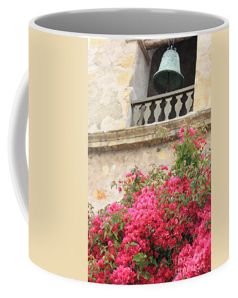 Carmel-by-the-sea Coffee Mug featuring the photograph Carmel Mission Bell by Carol Groenen