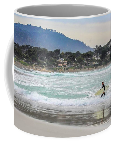 Ocean Coffee Mug featuring the photograph Carmel Surf by Starr Shepherd