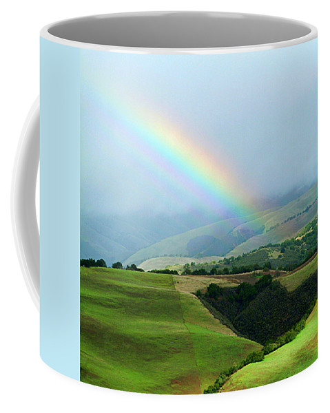 Rainbow Coffee Mug featuring the photograph Carmel Valley Rainbow by Charlene Mitchell