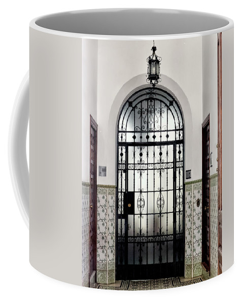Spain Coffee Mug featuring the photograph Carmona Door by Claude LeTien