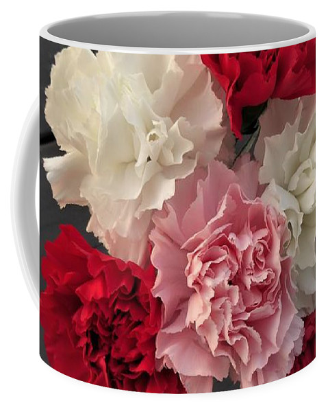 Carnation Coffee Mug featuring the photograph Carnations by Scenic Sights By Tara