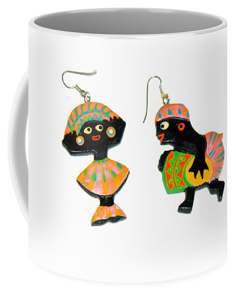 Earrings; Carnival; African; American; Afro; Woman; Pierced; Ears; Hoops; Dancer; Drummer; Celebrati Coffee Mug featuring the photograph Carnival by Allan Hughes