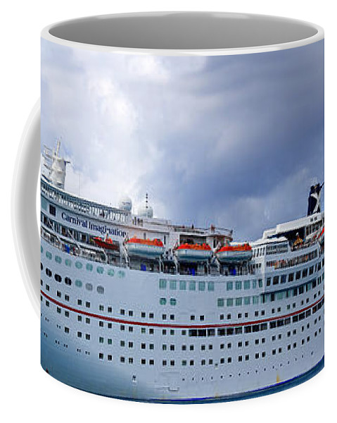 Carnival Coffee Mug featuring the photograph Carnival Cruise Ship by Thomas Marchessault