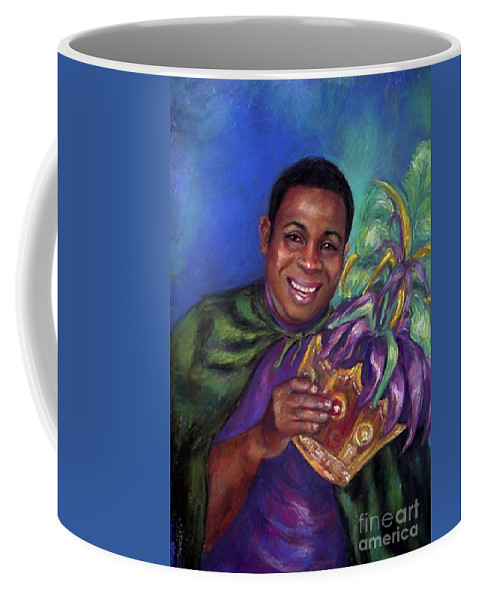 Pasel. Mardi Gras Coffee Mug featuring the painting Carnival Time by Beverly Boulet