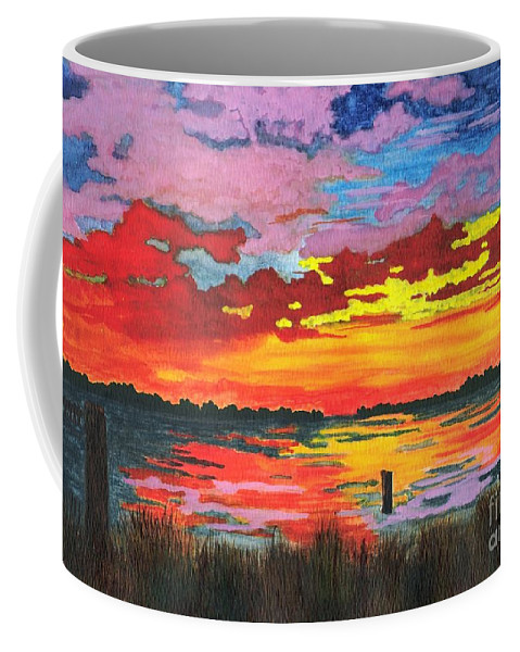 Original Painting Coffee Mug featuring the painting Carolina Sunset by Patricia Griffin Brett