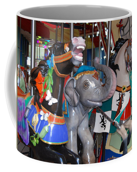 Carousel Coffee Mug featuring the photograph Carousel 2 by Armand Hebert