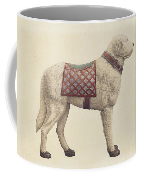 Robert Pohle Coffee Mug featuring the drawing Carousel Dog by Robert Pohle