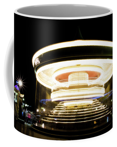 Night Coffee Mug featuring the photograph Carousel by Guillaume GERARD