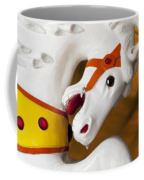 Carousel Coffee Mug featuring the photograph Carousel Horse 1 by Kelley King
