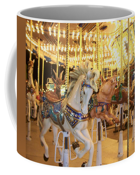 Carosel Horse Coffee Mug featuring the photograph Carousel Horse 2 by Anita Burgermeister