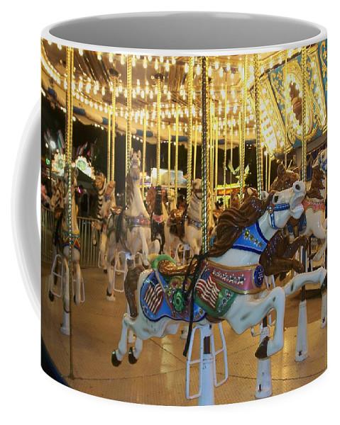 Carousel Horse Coffee Mug featuring the photograph Carousel Horse 3 by Anita Burgermeister