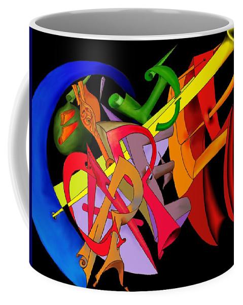 'carpe Diem' Coffee Mug featuring the digital art Carpe Diem II by Helmut Rottler