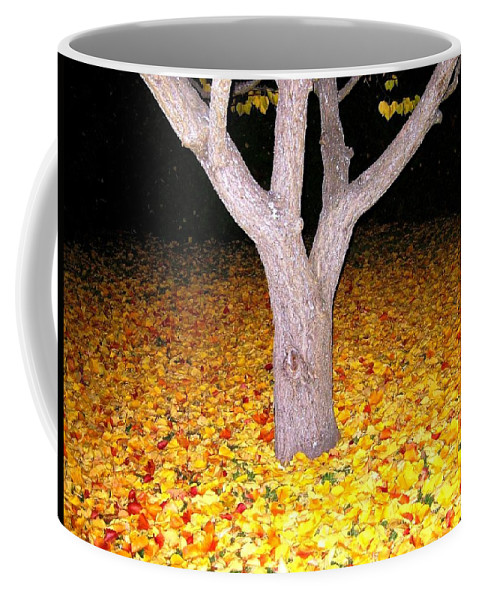 Apricot Leaves Coffee Mug featuring the photograph Carpet Of Leaves by Will Borden